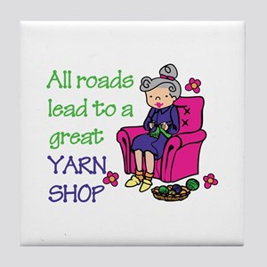 All roads are lead to a great yarn shop Tile Coast