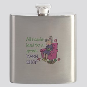 All roads are lead to a great yarn shop Flask