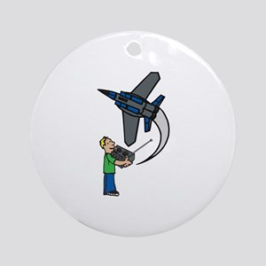 RC Airplane Ornament (Round)