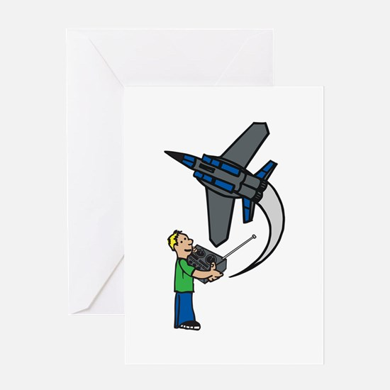 RC Airplane Greeting Cards