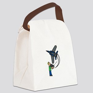 RC Airplane Canvas Lunch Bag
