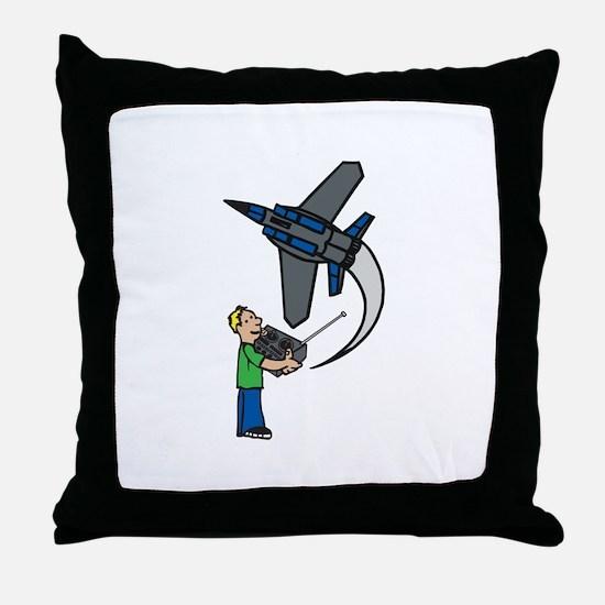 RC Airplane Throw Pillow