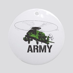 Army Helicopter Ornament (Round)