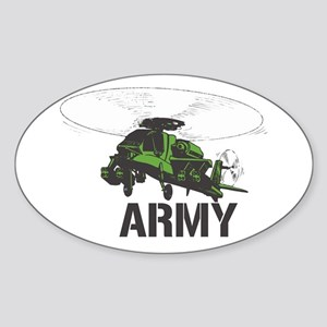 Army Helicopter Oval Sticker