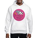 Eggs nuts & dairy-pink Hooded Sweatshirt
