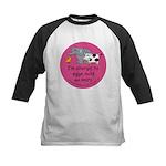 Eggs nuts & dairy-pink Kids Baseball Jersey