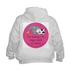 Eggs nuts & dairy-pink Kids Hoodie-back design