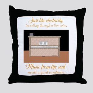 Music from the soul... Throw Pillow
