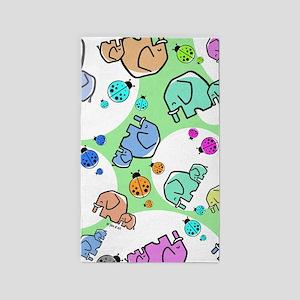 Elephants & Ladybugs 3'x5' Area Rug