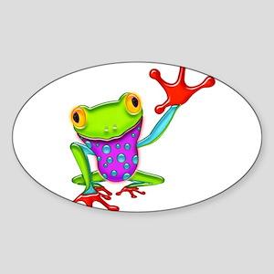 Waving Poison Dart Frog Sticker
