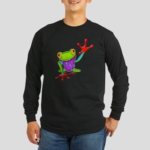 Waving Poison Dart Frog Long Sleeve T-Shirt