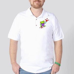 Waving Poison Dart Frog Golf Shirt