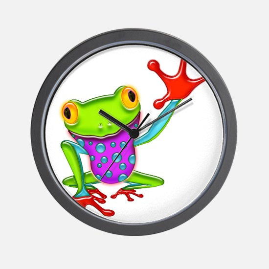 Funny Amphibians and reptiles Wall Clock