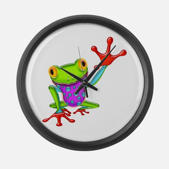 Funny Amphibians and reptiles Large Wall Clock