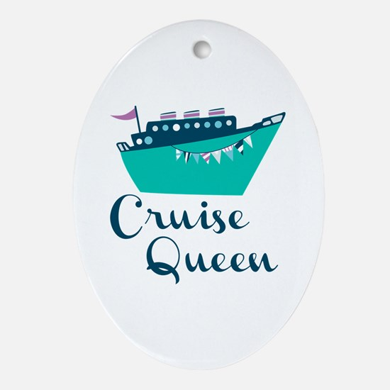 Cruise Queen Ornament (Oval)
