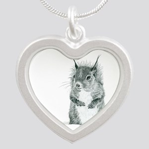 Cute Squirrel Drawing Necklaces