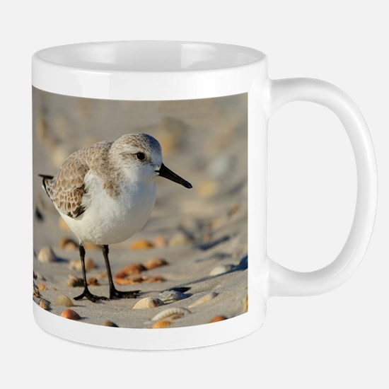Sand Piper and Seashells Mugs
