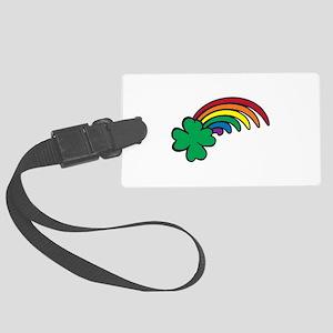 Shamrock Rainbow Luggage Tag
