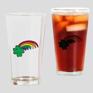 Shamrock Rainbow Drinking Glass
