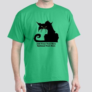 Angry Pissed Off Black Cat Dark T-Shirt