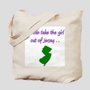 you can take girl out of Jersey purple 2 Tote Bag