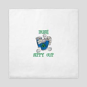 Irish Sippy Cup Queen Duvet