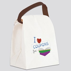I Love Coupons Canvas Lunch Bag