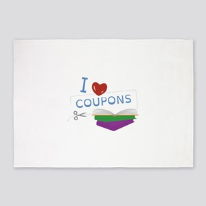I Love Coupons 5'x7'Area Rug