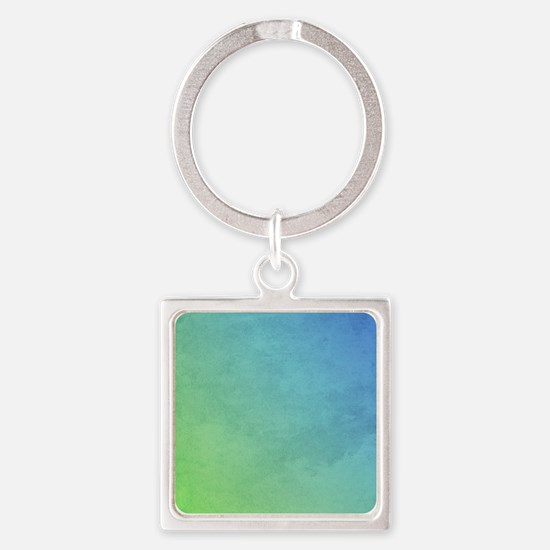 abstract pastel painting Square Keychain