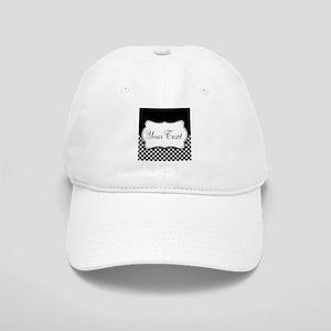 Personalizable Black and White Baseball Cap