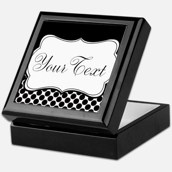 Personalizable Black and White Keepsake Box