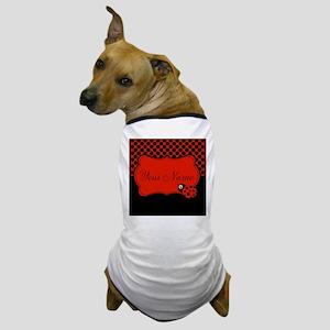 Personalizable Ladybug Polk Dots Dog T-Shirt