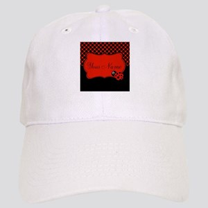 Personalizable Ladybug Polk Dots Baseball Cap