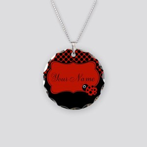 Personalizable Ladybug Polk Dots Necklace