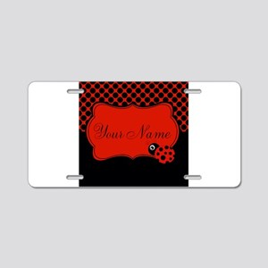 Personalizable Ladybug Polk Dots Aluminum License
