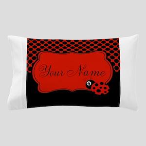 Personalizable Ladybug Polk Dots Pillow Case