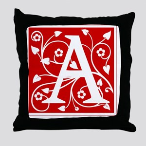 a-ana-red Throw Pillow