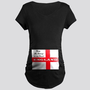 St. George's Flag Maternity Dark T-Shirt