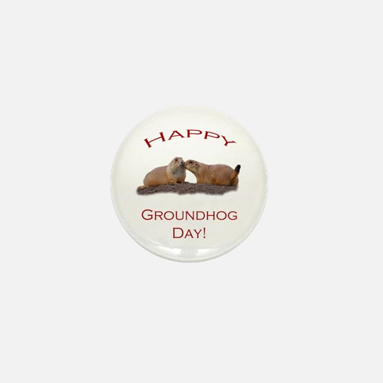 Cute Groundhog day Mini Button