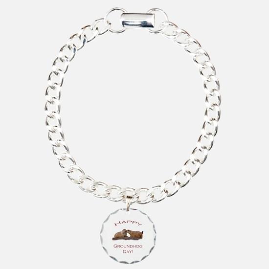 Funny Groundhog day Bracelet