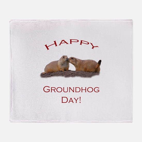 Funny Groundhog day Throw Blanket