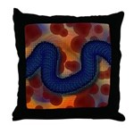 River of Red and Blue Throw Pillow