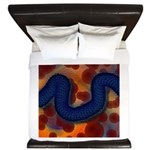 River of Red and Blue King Duvet