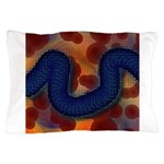 River of Red and Blue Pillow Case