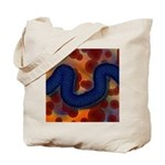 River of Red and Blue Tote Bag