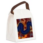 River of Red and Blue Canvas Lunch Bag