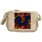 River of Red and Blue Messenger Bag