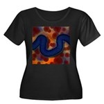 River of Red and Blue Plus Size T-Shirt