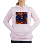 River of Red and Blue Women's Hooded Sweatshirt