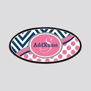 Bold Chevron Dots and Monogram Patches